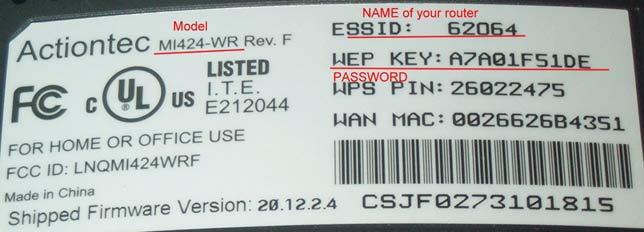 Стандартные пароли роутеров