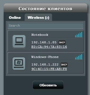 Устройства подключенные к wi-fi
