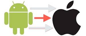 Как перекинуть контакты с Андроида на Айфон