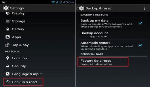 Как вернуть заводские настройки на Андроид в настройках телефона