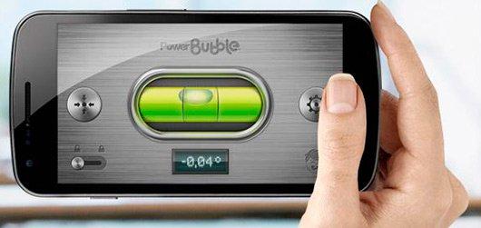Power Bubble приложение для определения уровня горизонта