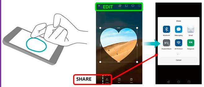 Делаем снимок экрана на Huawei